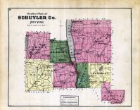 Outline Plan Map, Schuyler County 1874